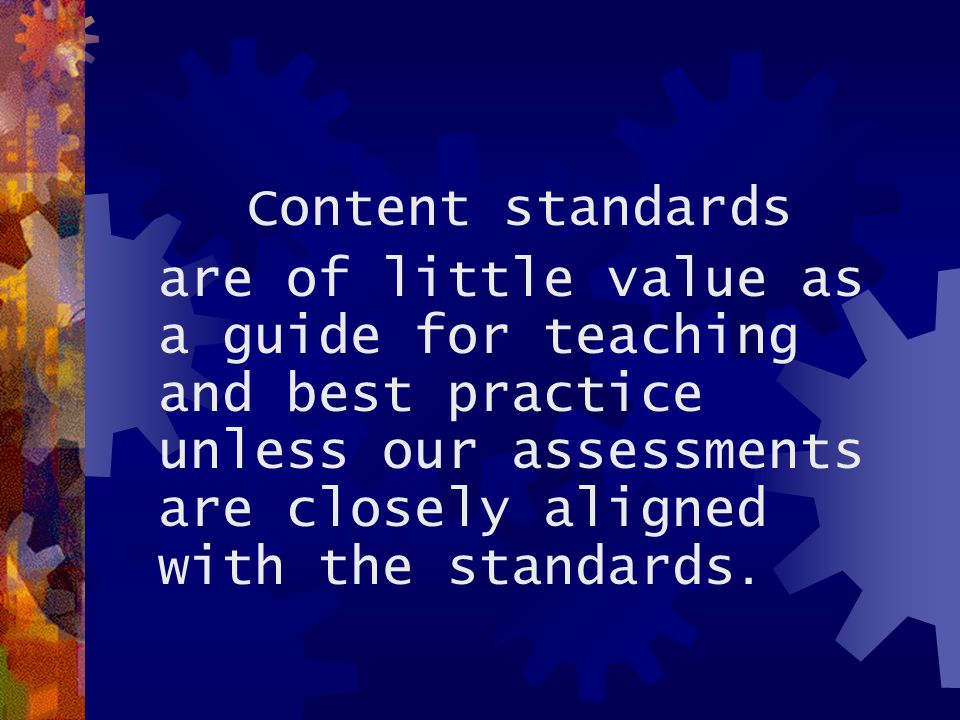 Analysis (cont'd.)  …asking themselves, What am I asking my students to KNOW and to BE ABLE TO DO in this benchmark.