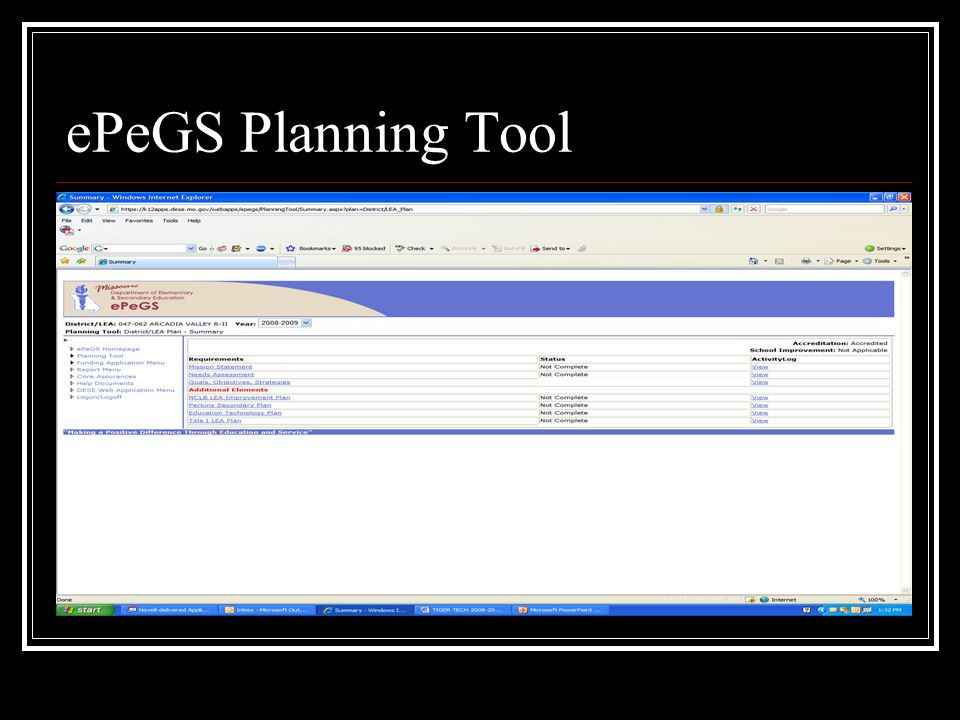 ePeGS Planning Tool