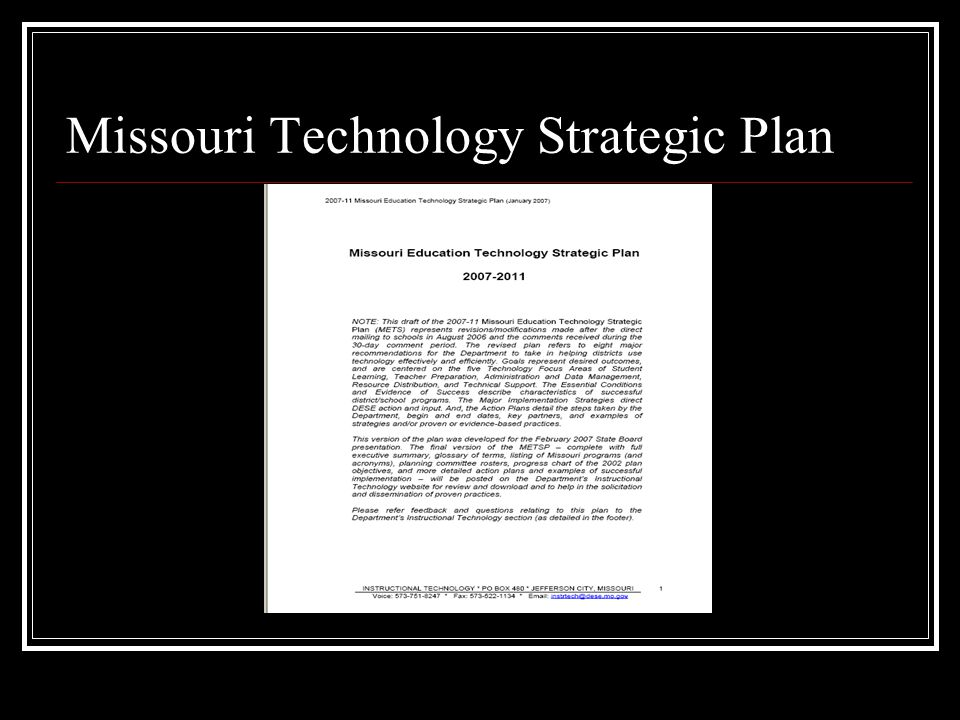 Missouri Technology Strategic Plan