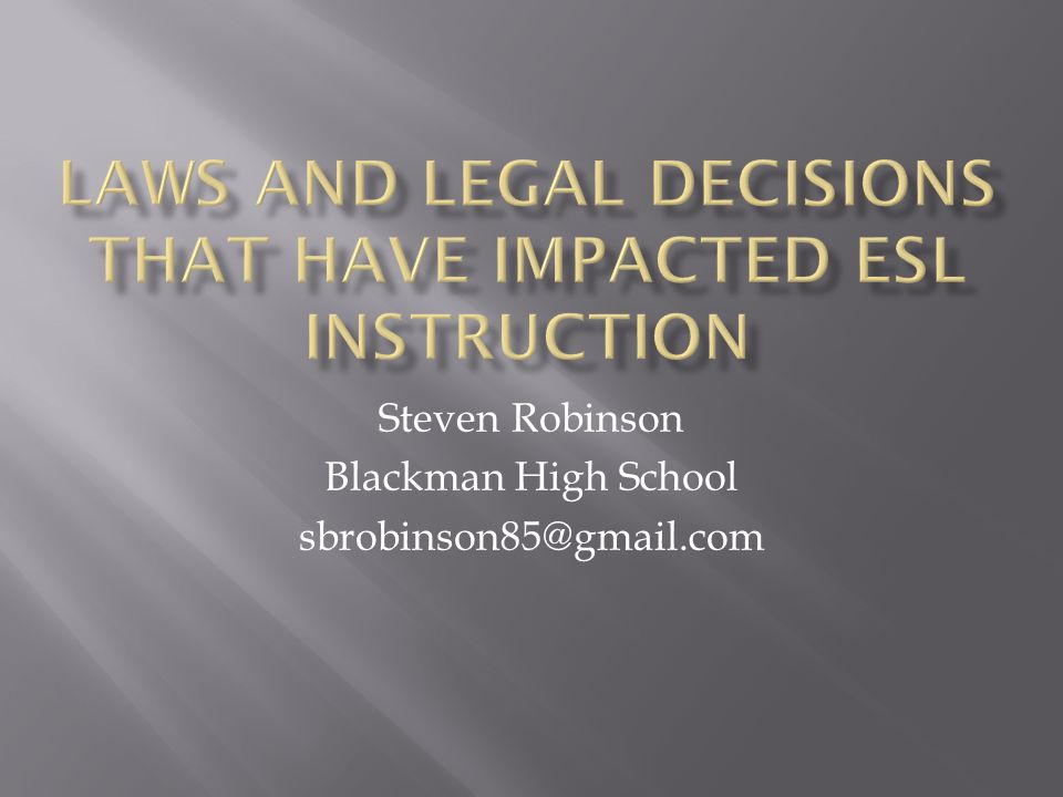 Steven Robinson Blackman High School sbrobinson85@gmail.com