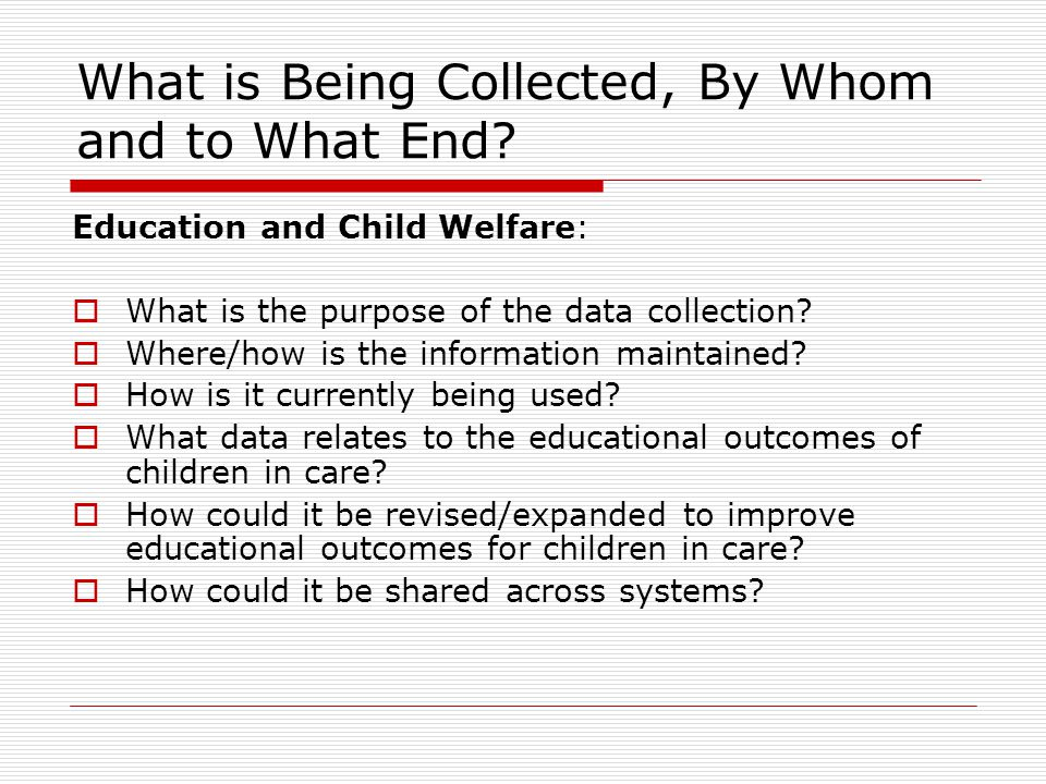 What Does Child Welfare Collect  Title IV-E of the Social Security Act 42 U.S.C.A.