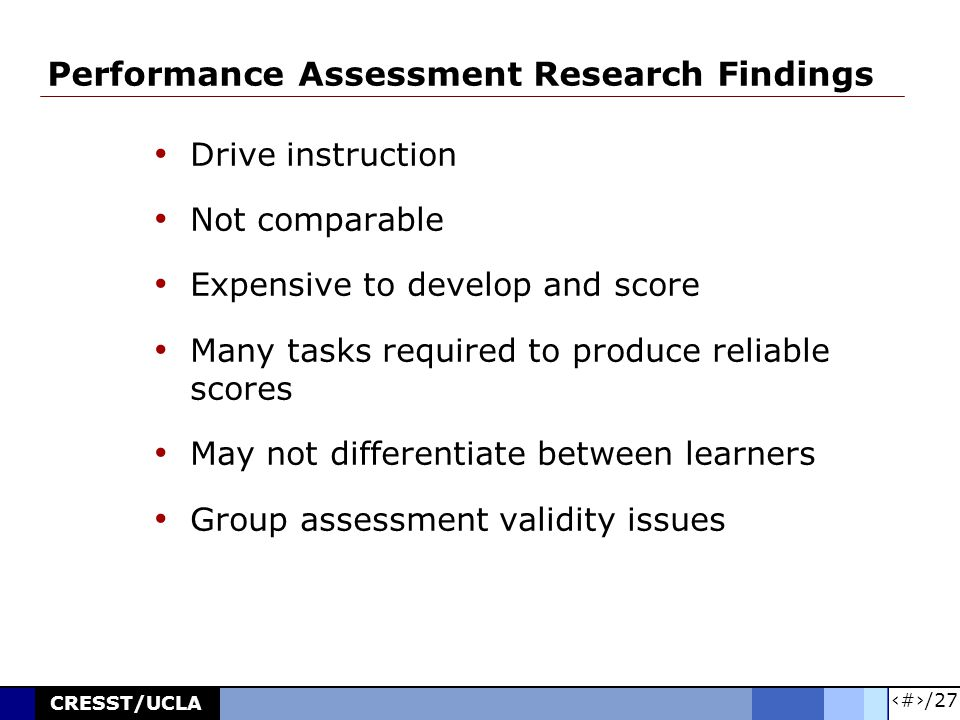 7/27 CRESST/UCLA Effects of Testing