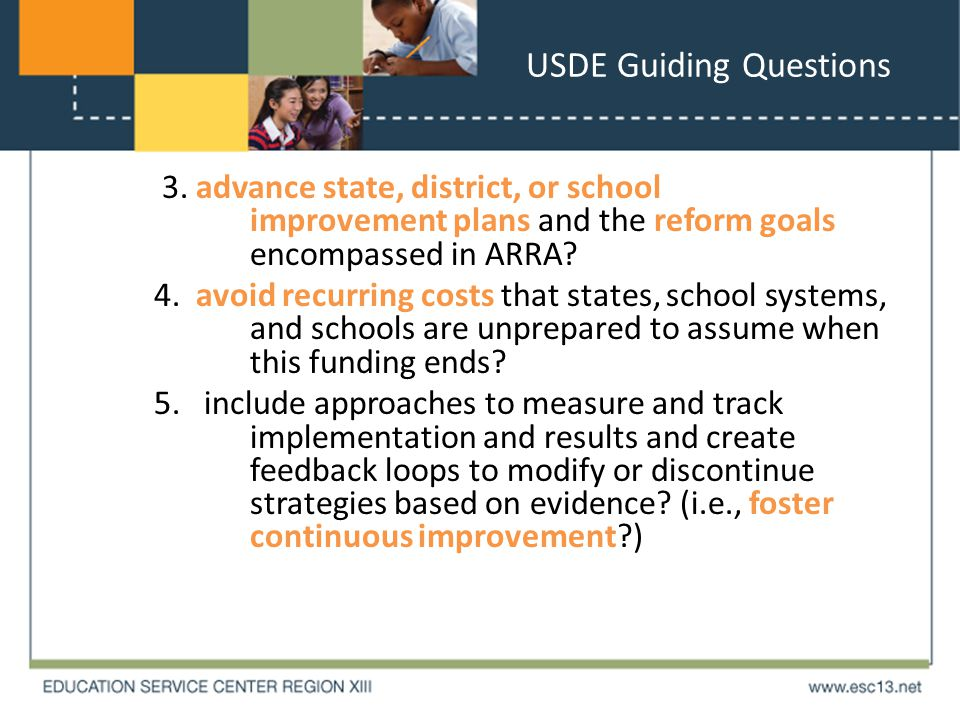 USDE Guiding Questions 3.