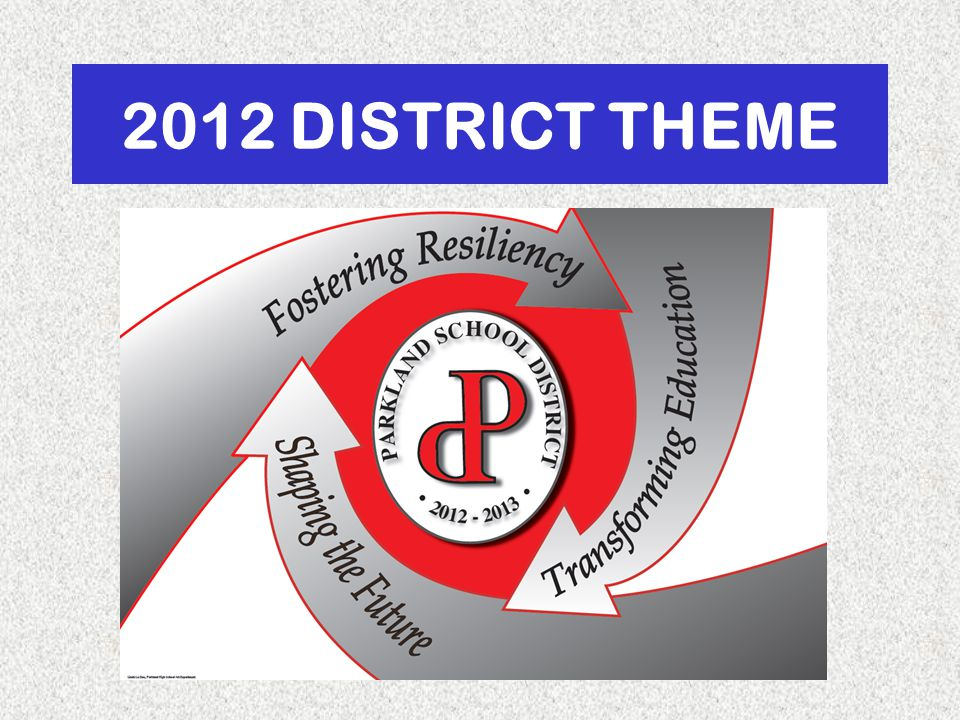 2012 DISTRICT THEME