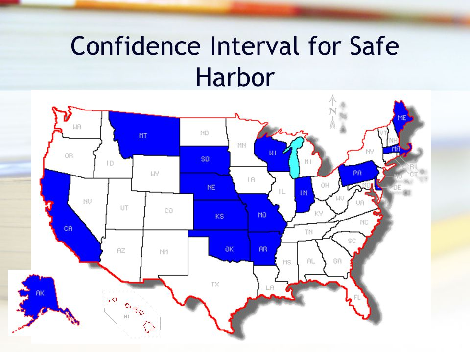 Confidence Interval for Safe Harbor