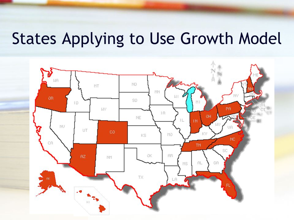 States Applying to Use Growth Model