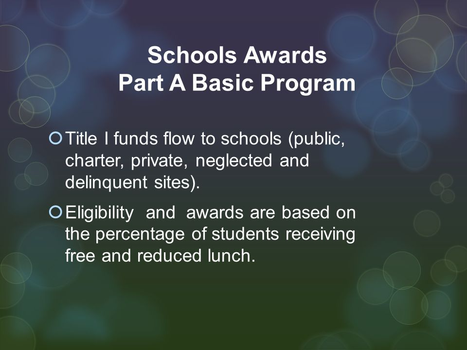 Public Schools  101 Public Schools qualify for Title I funds and support for the 2014-15 school year.