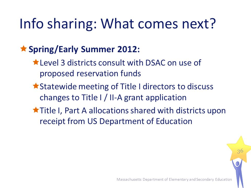 Info sharing: What comes next.