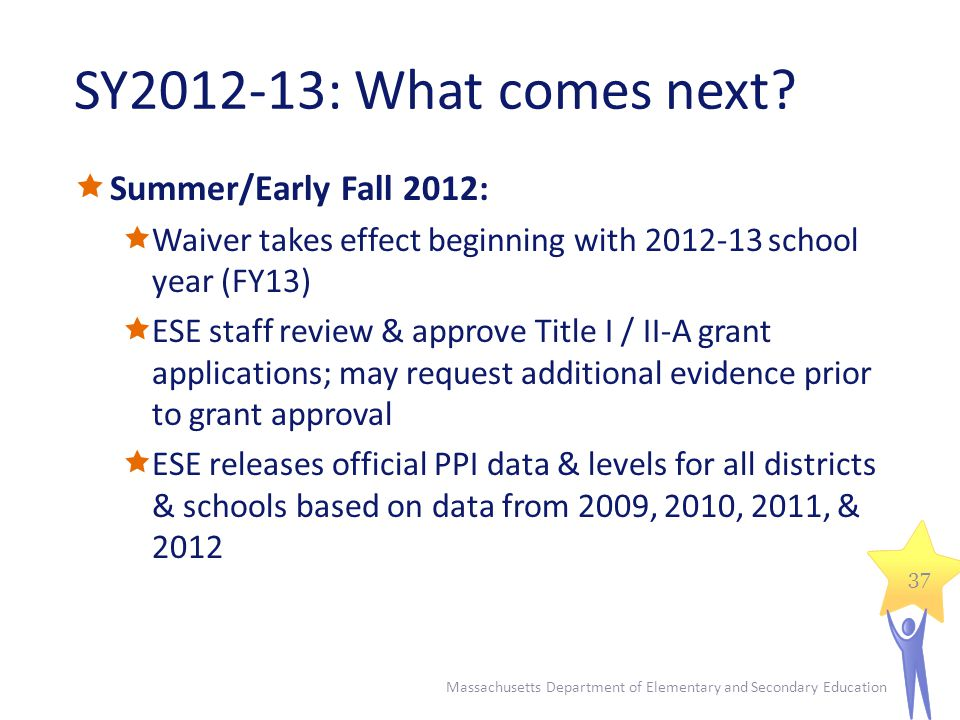 SY2012-13: What comes next.