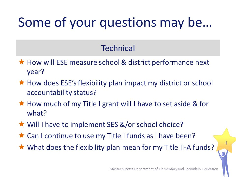 Some of your questions may be… Technical  How will ESE measure school & district performance next year.