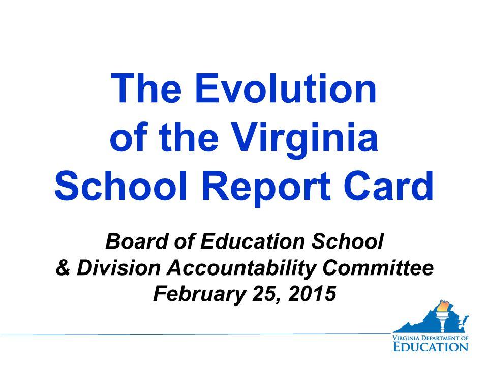 Virginia School Report Card: Pre-NCLB 1998-1999: Printed Version