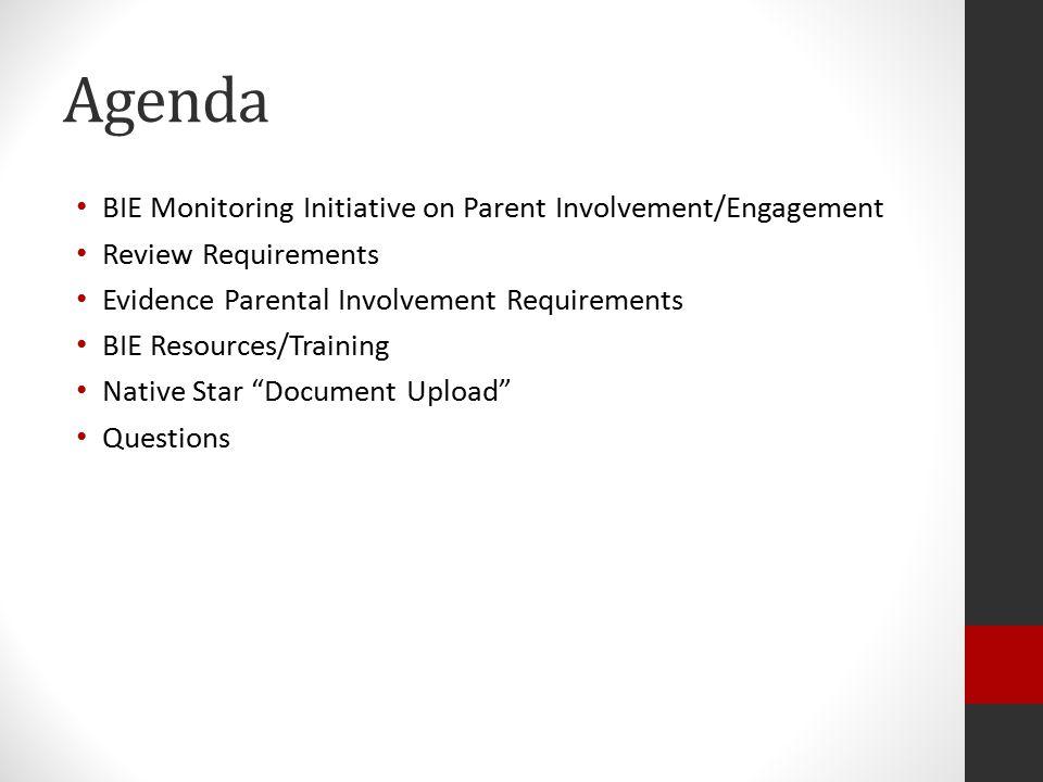 Native Star Document Upload Parental Involvement/Engagement