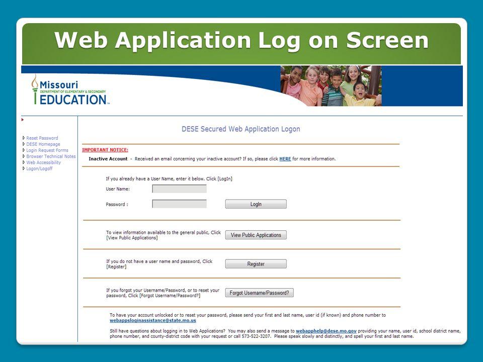 User Applications Menu 3