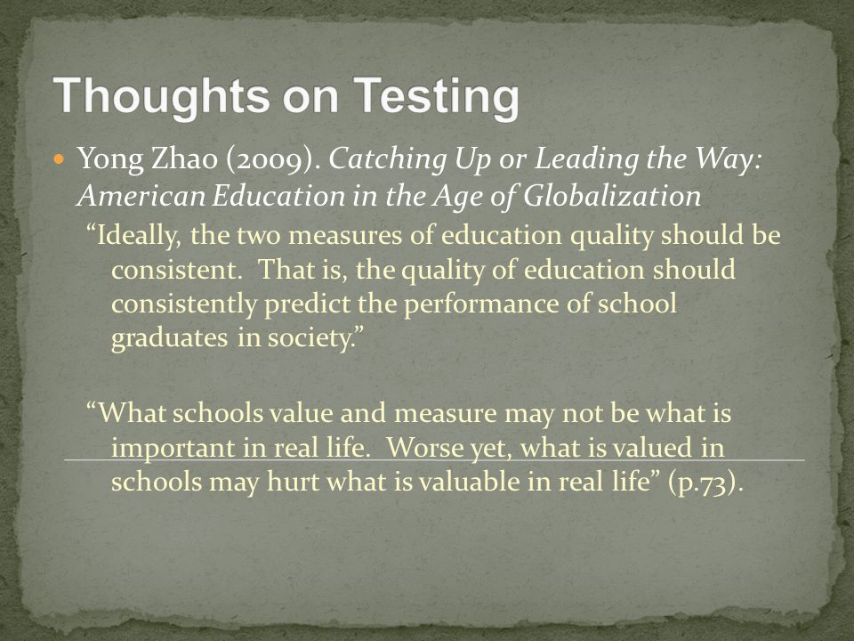 In China and the U.S.: 1.How do test scores get reported.