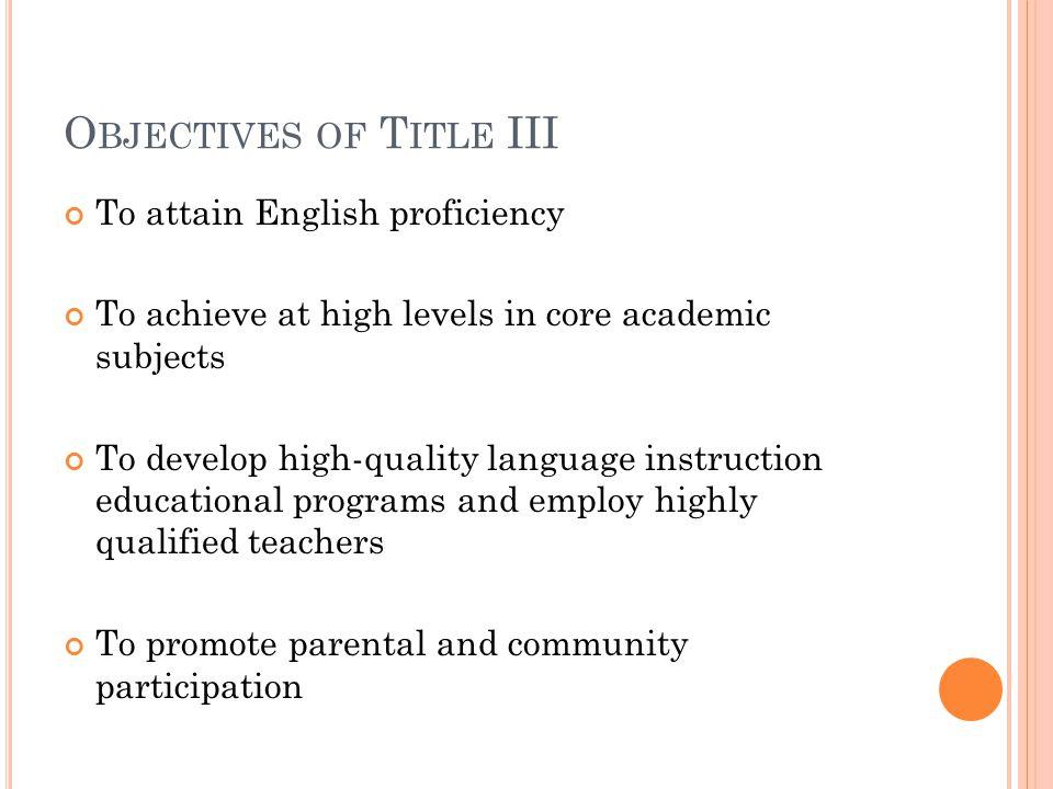 A TTAINMENT Annual Measurable Achievement Objective AMAO B (Attainment)