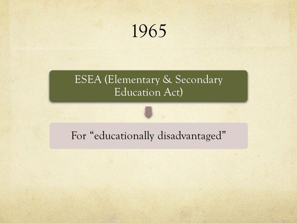 Alignment of IDEA 2004 & ESEA cont...