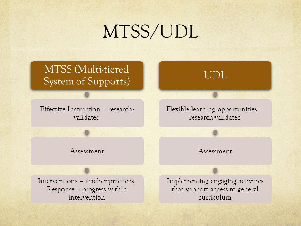 Discussion IDEA 2004 MTSS ESEA UDL