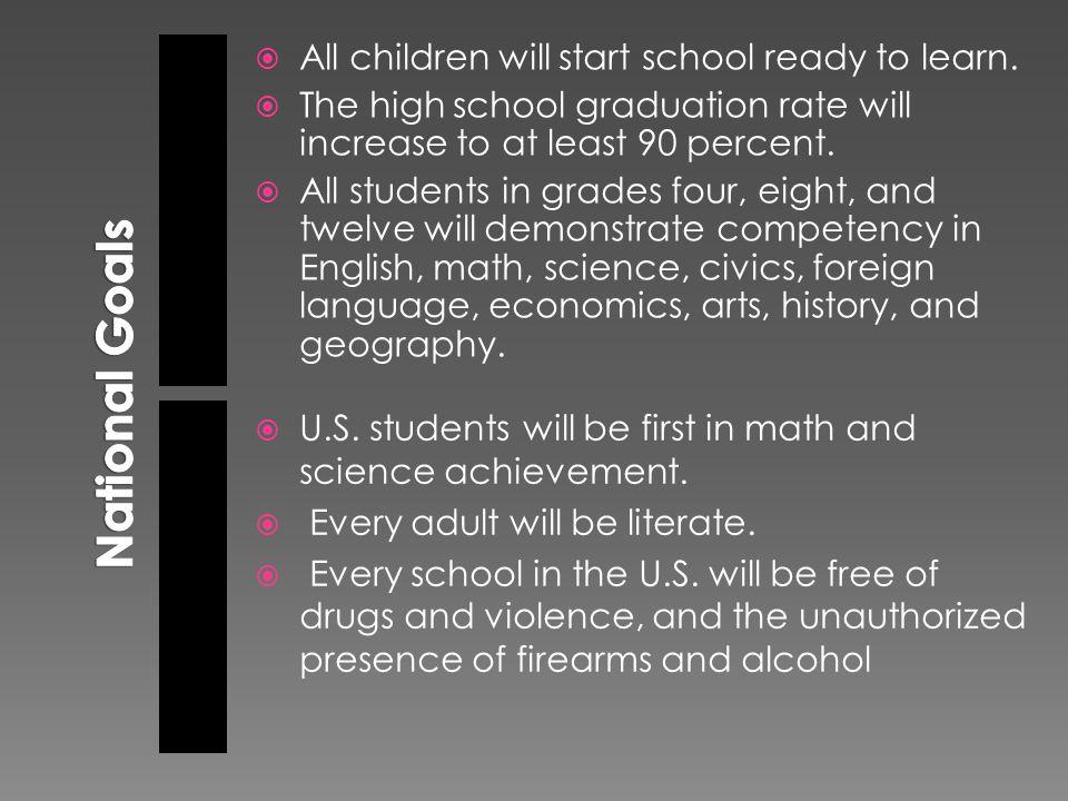  All children will start school ready to learn.