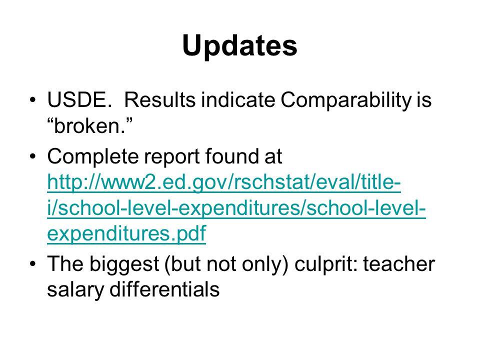 Updates USDE.