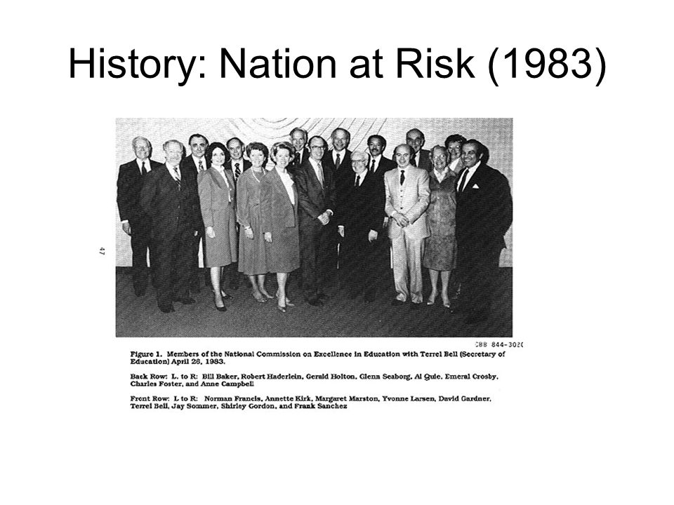 History: Nation at Risk (1983)