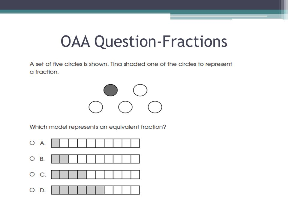 OAA Question-Fractions