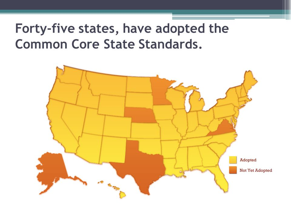 Why did we shift to the new standards. 40% of the students in the U.S.