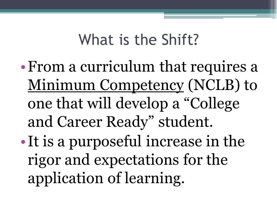 What is the Shift.