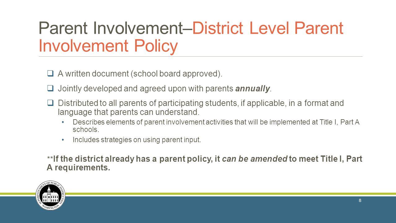  A written document (school board approved).