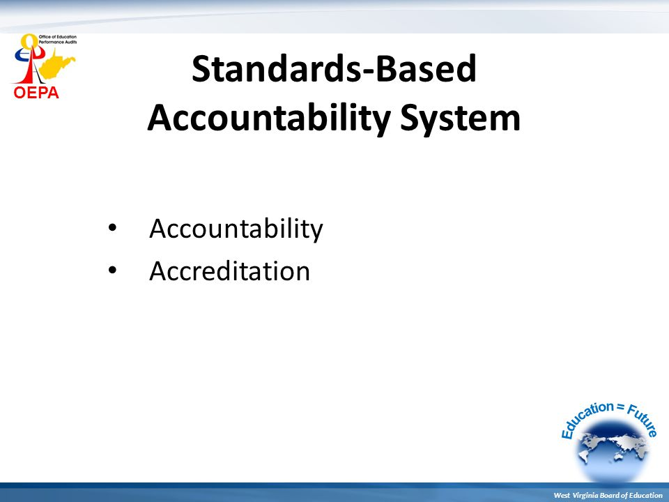 OEPA West Virginia Board of Education Ultimately, the school system's improvement process must determine how school system leadership, resources, services, supports, and policies can be best utilized to improve the school and classroom learning conditions that impact student performance.