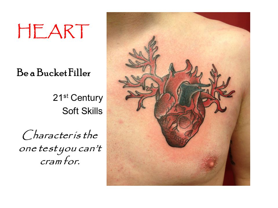 HEART Be a Bucket Filler 21 st Century Soft Skills Character is the one test you can't cram for.