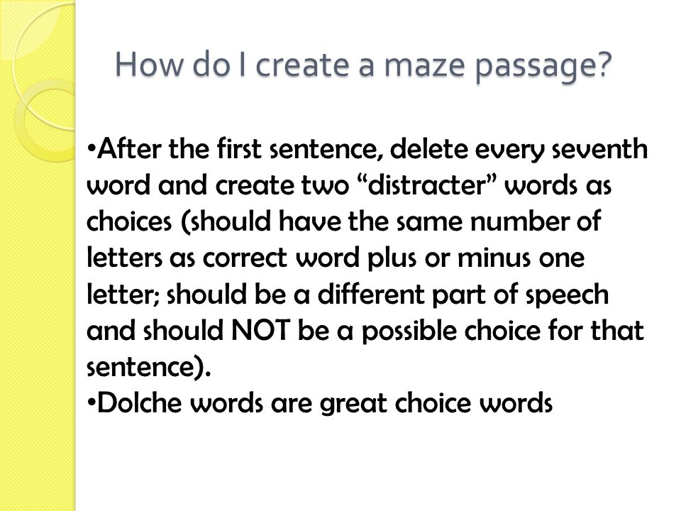 How do I create a maze passage.