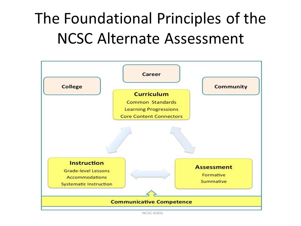 The Foundational Principles of the NCSC Alternate Assessment