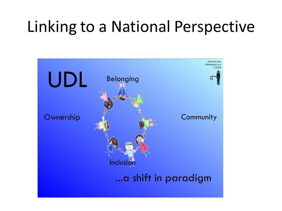 Linking to a National Perspective