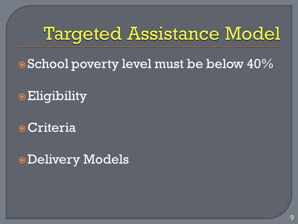  Parents must be involved in the Title I program by assisting the schools with decisions about: How Title I funds will be used (SAC) The development of plans 20