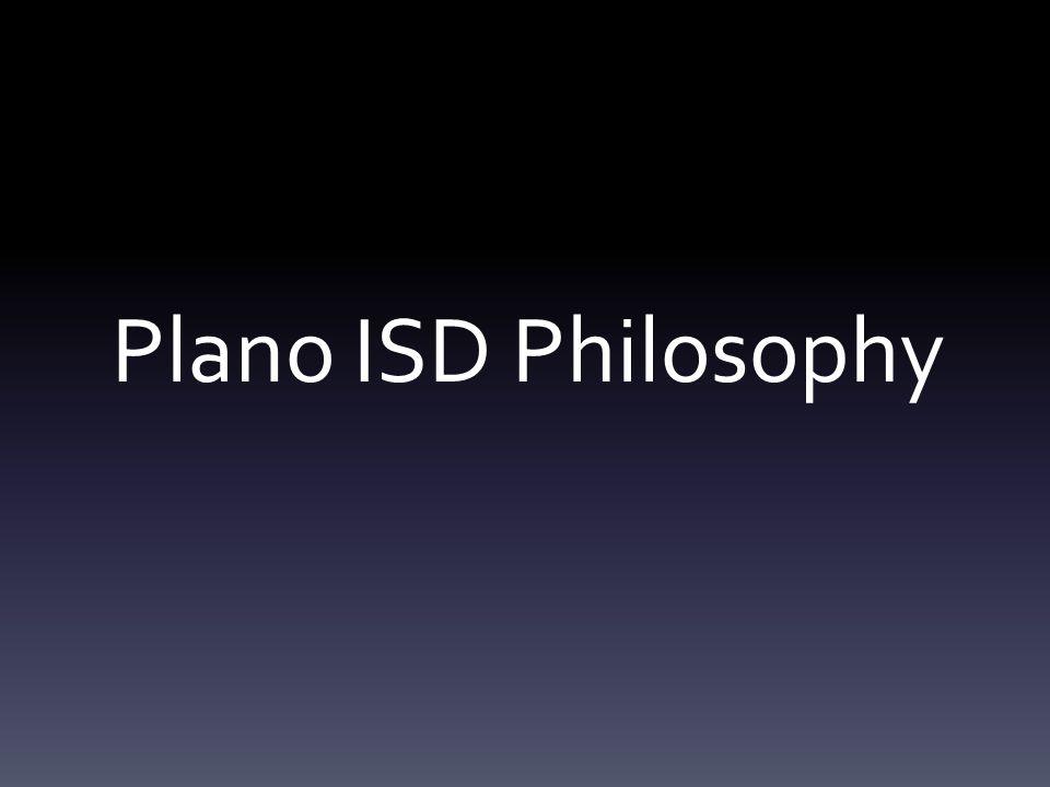 Plano ISD Philosophy