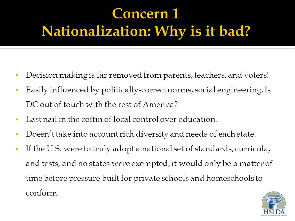  Decision making is far removed from parents, teachers, and voters.