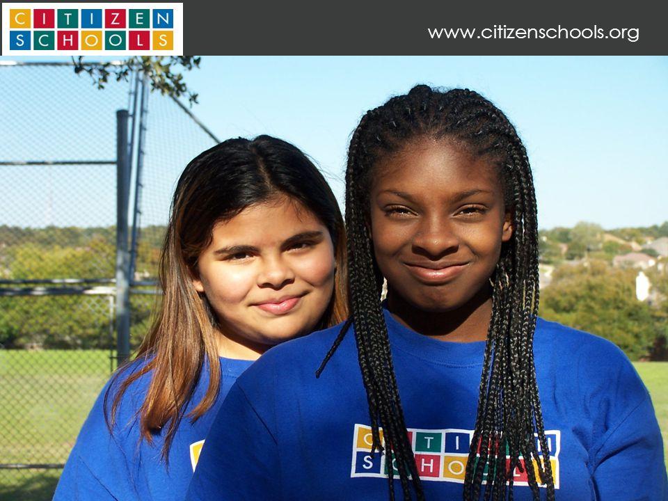 33 SNAPSHOT OF CITIZEN SCHOOLS PARTICIPANTS www.citizenschools.org