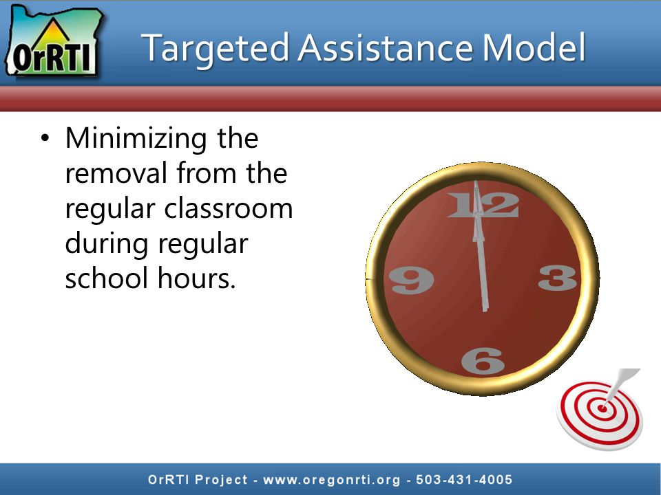 Minimizing the removal from the regular classroom during regular school hours.