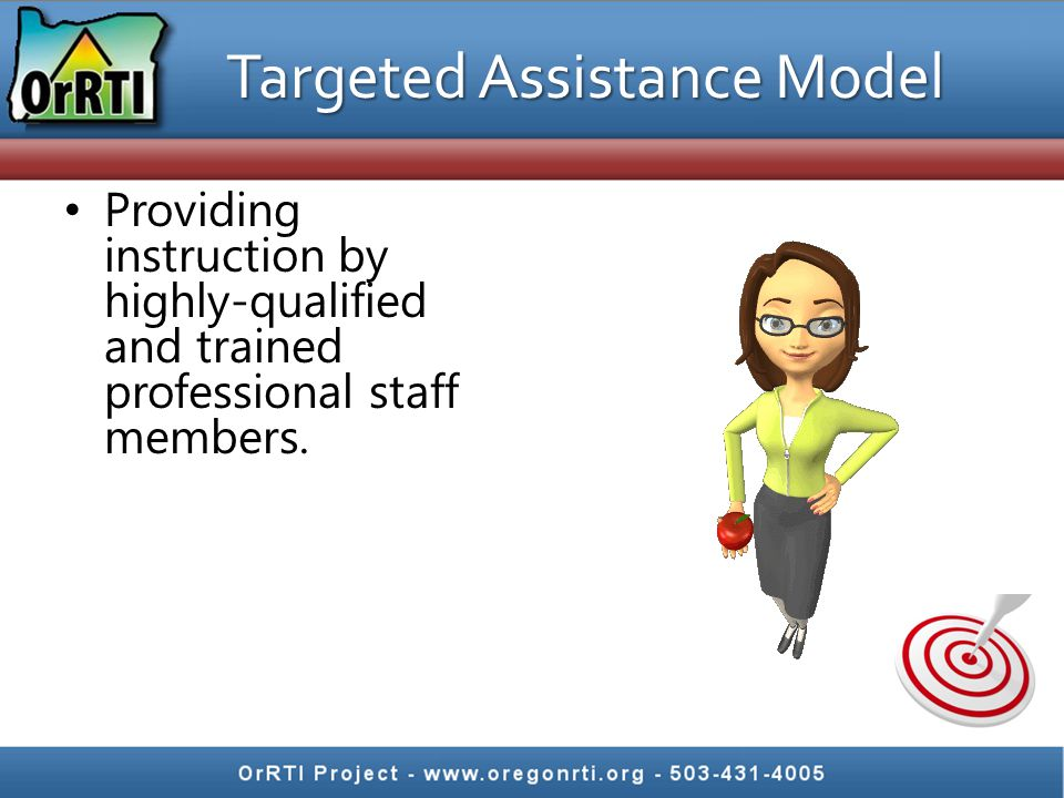 Providing instruction by highly-qualified and trained professional staff members.
