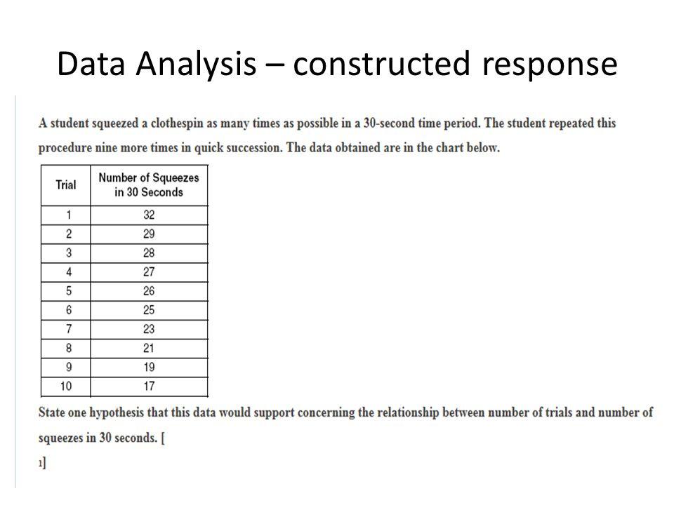 Data Analysis – constructed response