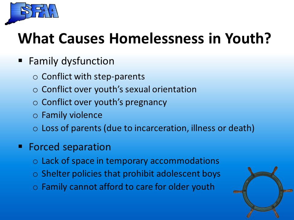 What Causes Homelessness in Youth.