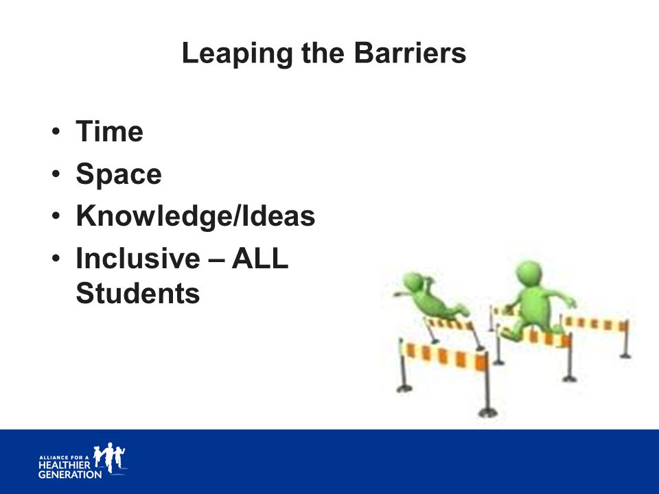 Leaping the Barriers Time Space Knowledge/Ideas Inclusive – ALL Students