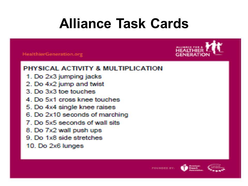 Alliance Task Cards