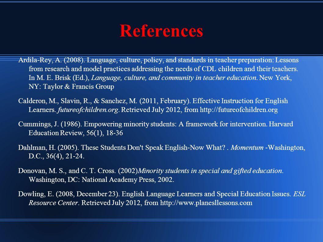 References Ardila-Rey, A. (2008).