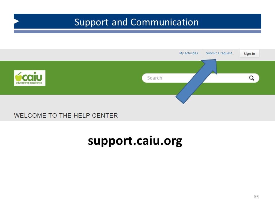 56 Support and Communication support.caiu.org