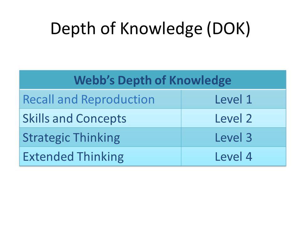 Depth of Knowledge (DOK) Copyright ©2010 Commonwealth of Pennsylvania 3