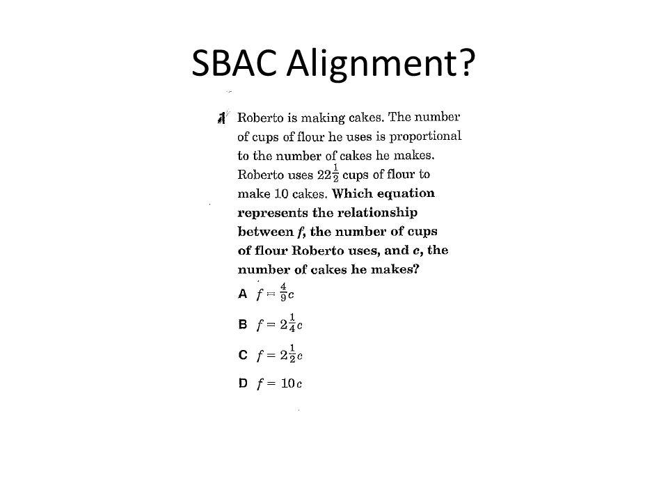 SBAC Alignment