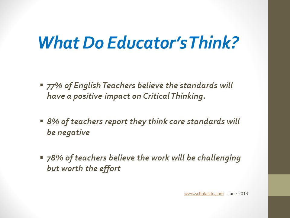 What Do Educator's Think.