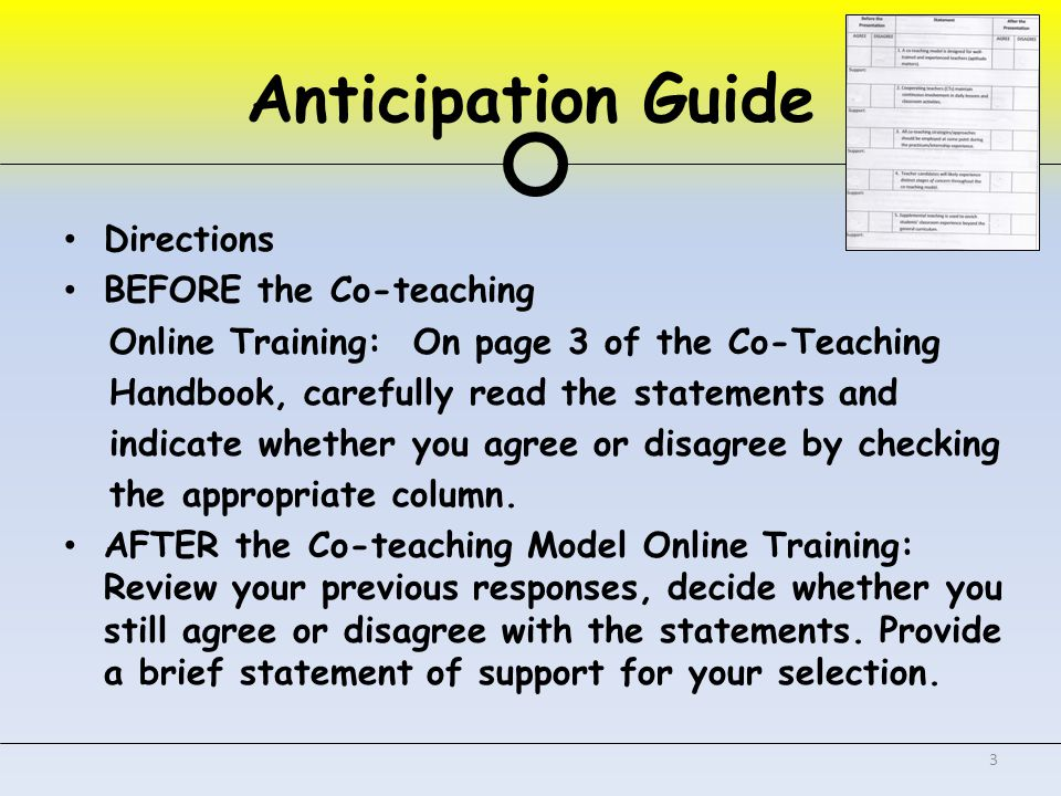 Quick Write: Write one question you have about co-teaching. 4