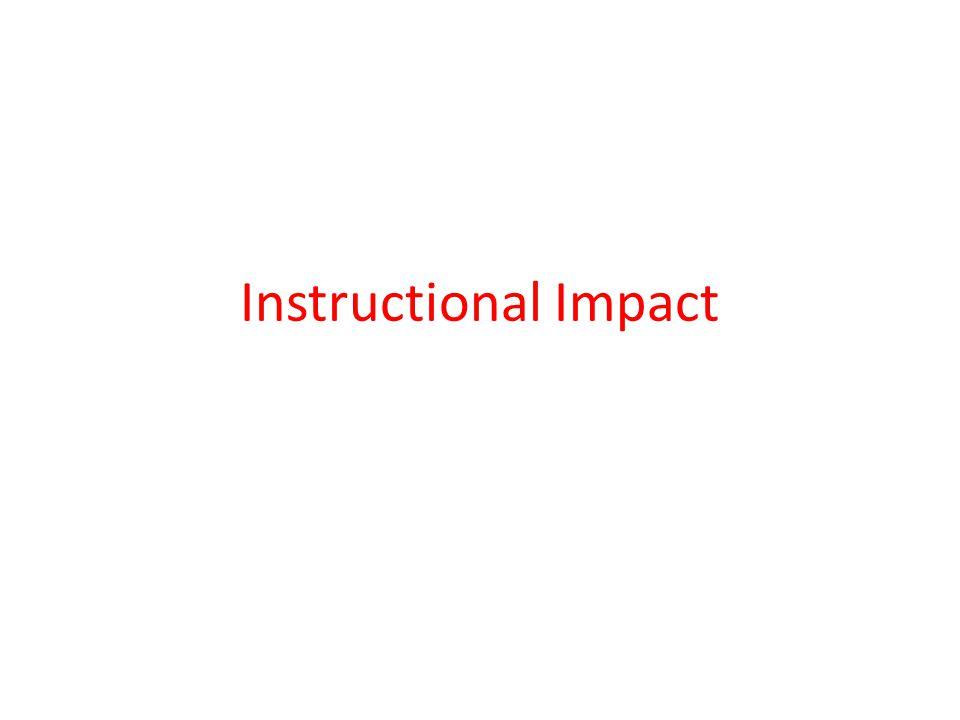Instructional Impact